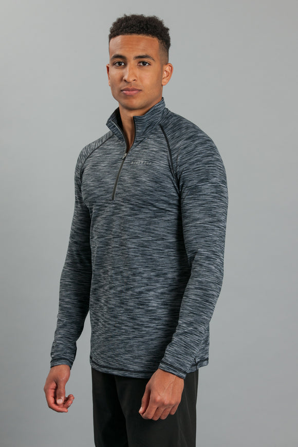 WearWolf 1/4 Zip Long Sleeve - Haze Grey - WearWolf Clothing UK