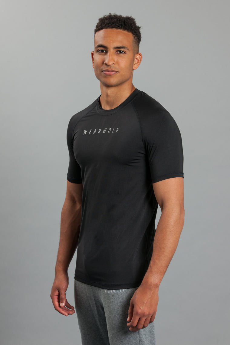 WearWolf AirTech T-Shirt - Black - WearWolf Clothing UK