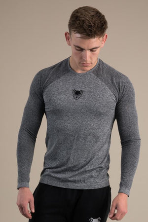Mens Seamless Long Sleeve - Steel Grey
