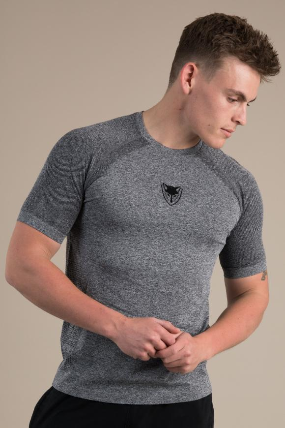 Mens Seamless T-Shirt - Steel Grey
