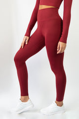Sensation Leggings - Burgundy