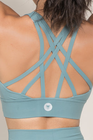 Flow Bra - Smokey Green