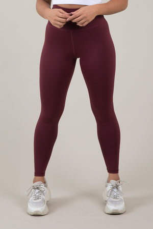 Sensation Leggings - Wine Red