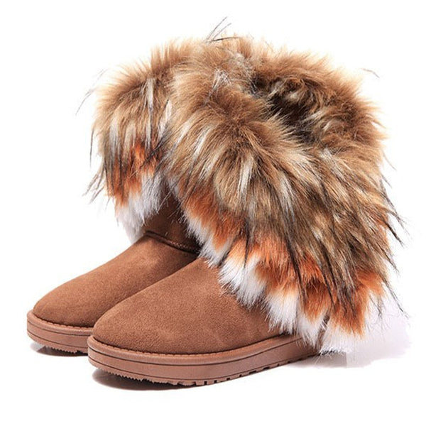 Quality Women faux Fur Boots Winter Warm Ankle Boots eye catching