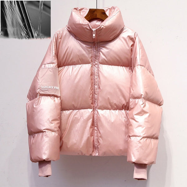 Winter Drop Shoulder Warm Padded Streetwear Down Lady coat