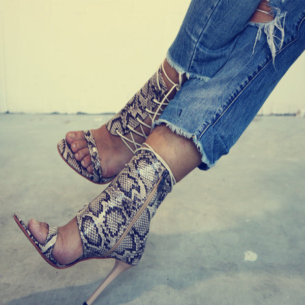 Snakeskin Pumps High Heels