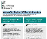 Making Tax Digial (MTD) - Mythbusters