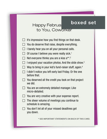 Coworker Valentines Boxed Set