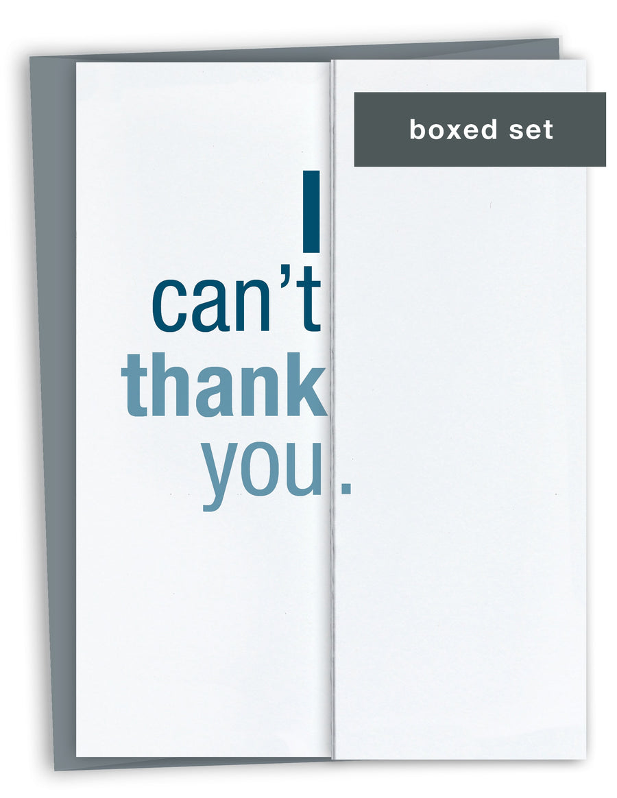 Can't Thank You Card Boxed Set