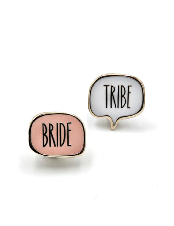 Bride Tribe Enamel Pins
