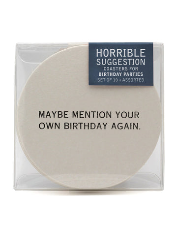 Birthday Party Coasters - Funny