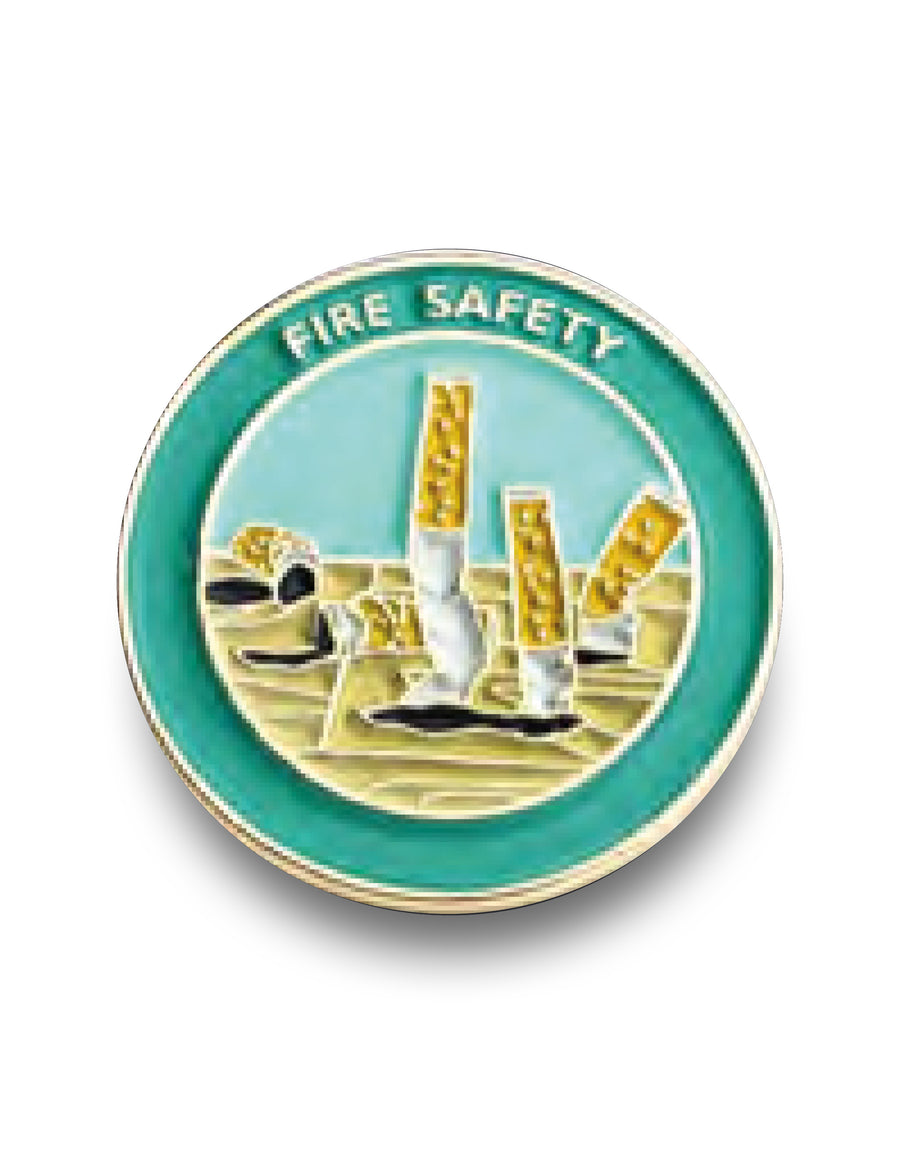 Fire Safety<br> Enamel Pin