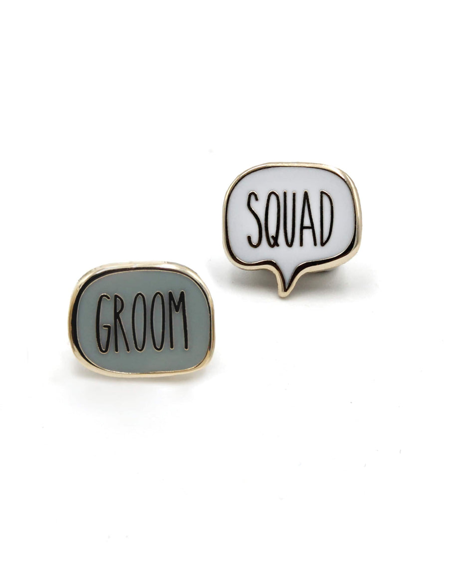 Groom<br> Mini Enamel Pin