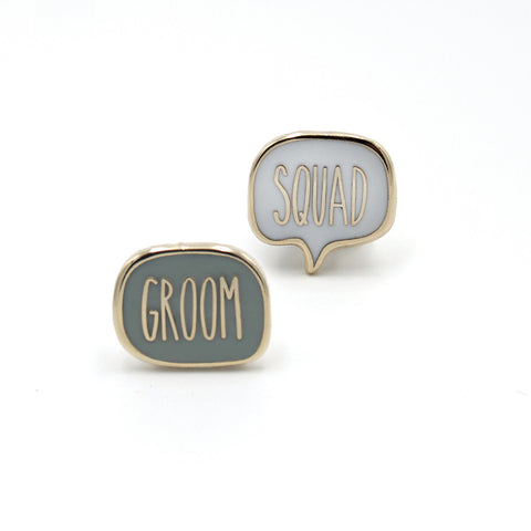 GROOM SQUAD<br>Mini Pin Set