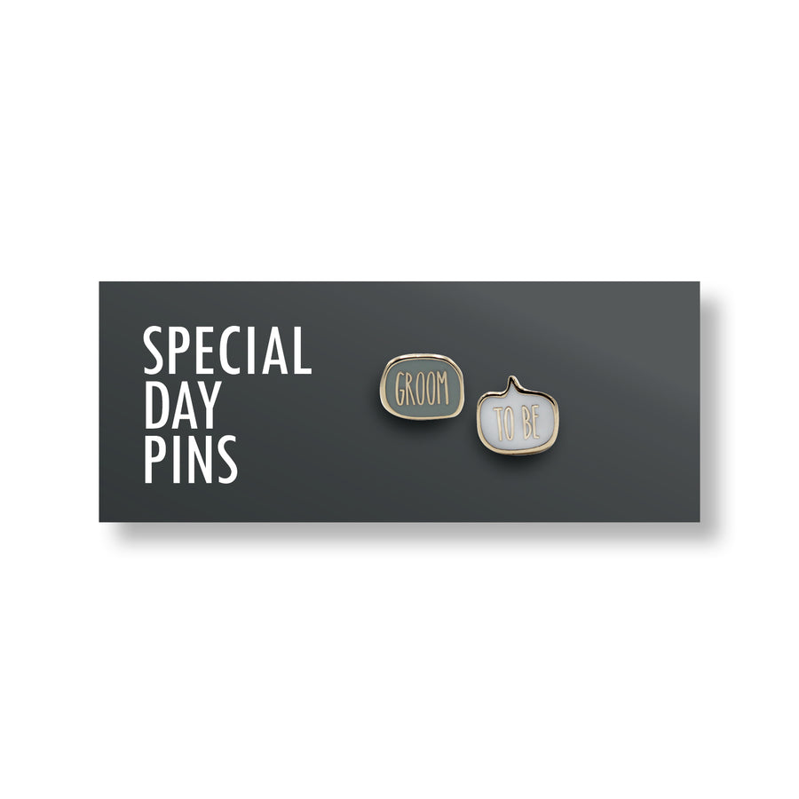 Groom to Be <br> Mini Pin Set
