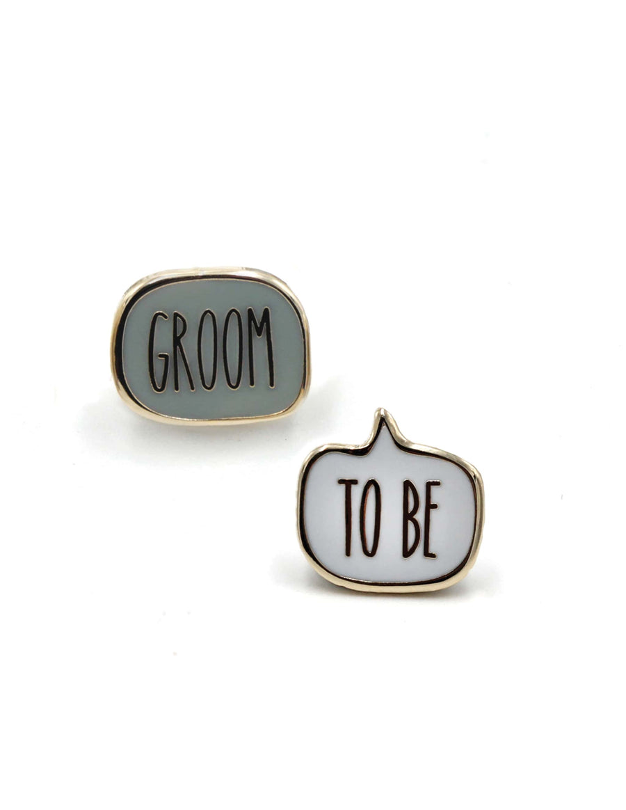 Groom to Be Enamel Pin Set