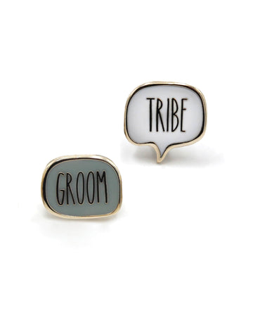Groom Tribe Enamel Pins