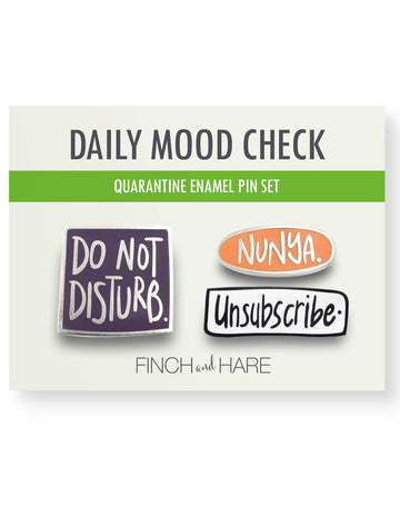 Quarantine Daily Mood<br> Enamel Pin Set