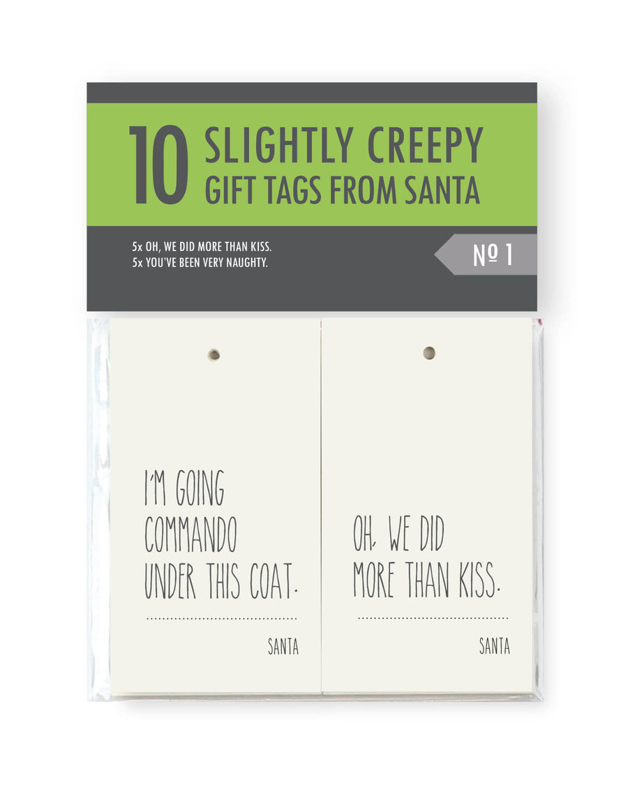 Creepy Santa Set 1 <br> Gift Tags