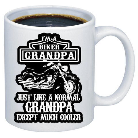 Free Biker Mug - I'm A Biker Grandpa. Like A Normal Grandpa Except Much Cooler