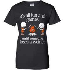 Camping Shirt - It Is All Fun And Games Until Someone Loses A Wiener - Shirt Loft - 9
