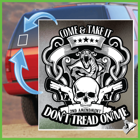 Gun Rights Sticker: Don't Tread On Me - Bonus 2-Pack!