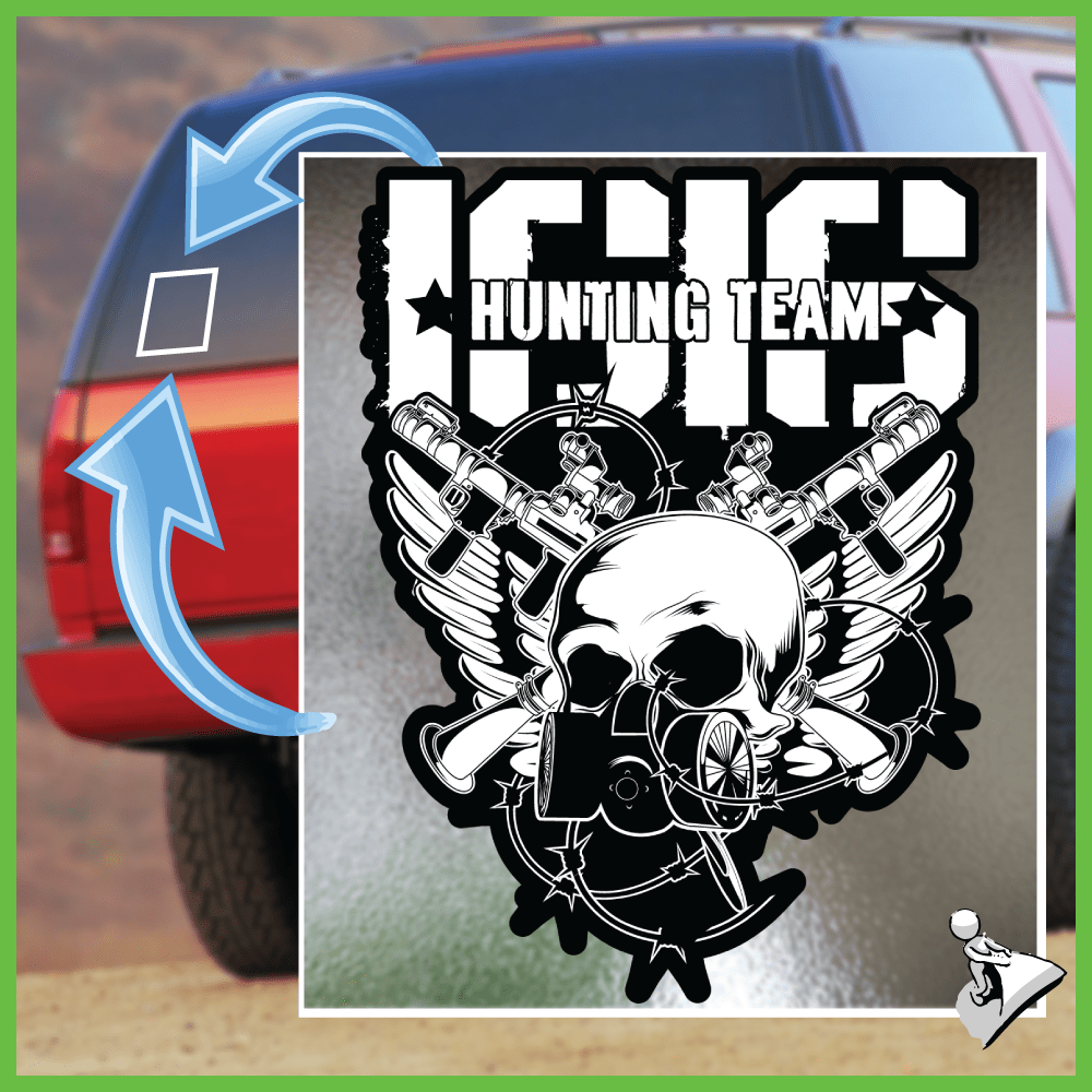 Free Gun Sticker: ISIS Hunting Team - Bonus 2-Pack! - Shirt Loft