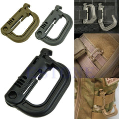 Free Camping Gear: Tactical D-Ring Snapping Locking Molle CompatIble - Shirt Loft - 1