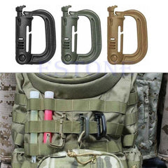 Free Camping Gear: Tactical D-Ring Snapping Locking Molle CompatIble - Shirt Loft - 2