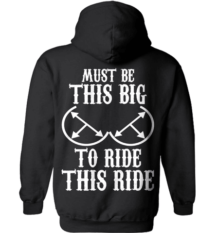 Biker Shirt - Must Be This Big To Ride This Ride
