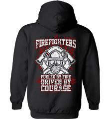 Firefighter Shirt - Firefighters: Fueled By Fire, Driven By Courage - Shirt Loft - 1