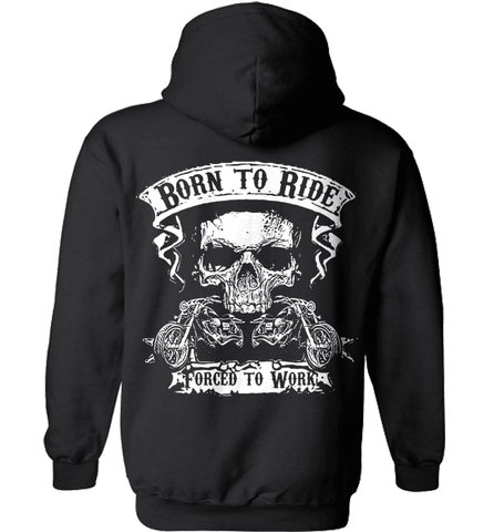 Biker Shirt - Born To Ride, Forced To Work