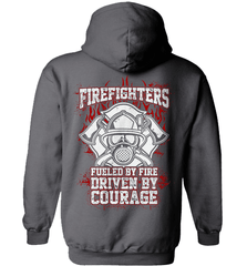 Firefighter Shirt - Firefighters: Fueled By Fire, Driven By Courage - Shirt Loft - 3