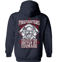 Firefighter Shirt - Firefighters: Fueled By Fire, Driven By Courage - Shirt Loft - 4