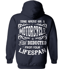 Biker Shirt - Time Spent On A Motorcycle Is Not Deducted From Your Lifespan - Shirt Loft - 3