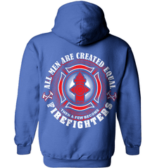 Firefighter Shirt - All Men Are Created Equal Then A Few Become Firefighters - Shirt Loft - 5