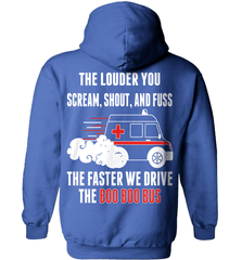 EMT Shirt - The Louder You Scream, Shout and Fuss...The Faster We Drive The Boo Boo Bus - Shirt Loft - 5