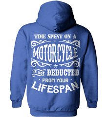 Biker Shirt - Time Spent On A Motorcycle Is Not Deducted From Your Lifespan - Shirt Loft - 5