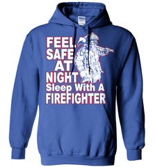 Firefighter Shirt - Feel Safe At Night. Sleep With A Firefighter - Shirt Loft - 5