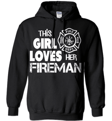 Firefighter Shirt - This Girl Loves Her Fireman - Shirt Loft - 1