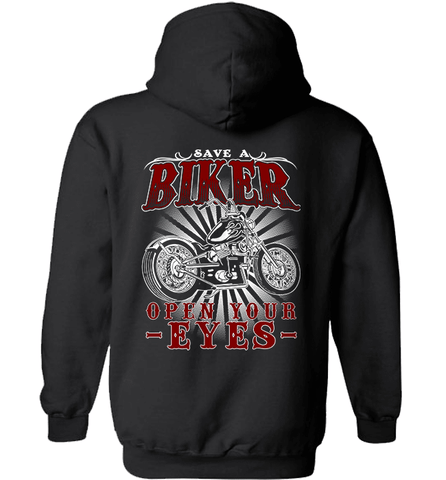 Biker Shirt - Save A Biker, Open Your Eyes