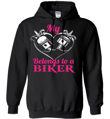 Biker Shirt - My Heart Belongs To A Biker
