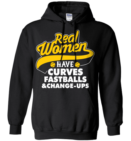 Softball Mom Shirt - Real Women Have Curves, Fastballs And Change-ups