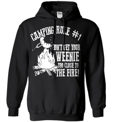 Camping Shirt - Camping Rule #1. Don't Get Your Weenie Too Close To The Fire! - Shirt Loft - 1
