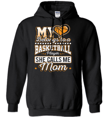 Basketball Mom Shirt - My Heart Belongs To A Basketball Player. She Call Me Mom - Shirt Loft - 1