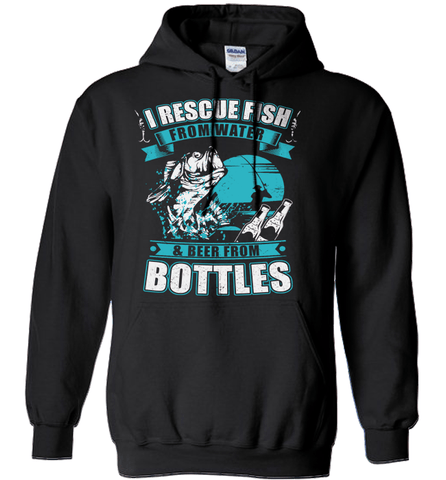 Fishing Shirt - I Rescue Fish From Water & Beer From Bottles