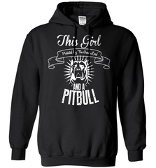 Pit Bull Shirt - This Girl Protected By The Good Lord And A Pit Bull - Shirt Loft - 1