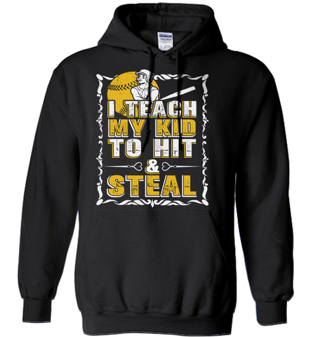 Softball Mom Shirt - I Teach My Kid To Hit And Steal