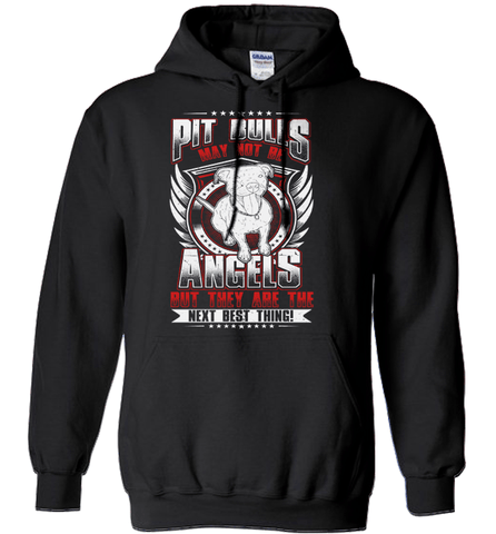 Pit Bull Shirt - Pit Bulls May Not Be Angels But They Are The Next Best Thing!