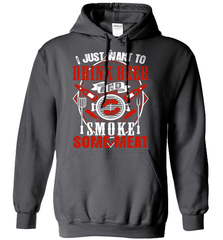 BBQ Shirt - I Just Want To Drink Beer And Smoke some Meat - Shirt Loft - 2